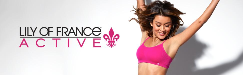 c0a5a0399c Lily of France Women s Crosse Back Medium Impact Sports Bra 2151901 ...