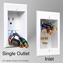 amazon com powerbridge one ck recessed in wall cable management rh amazon com Samsung TV Wiring Diagram HDMI Cable to HDTV