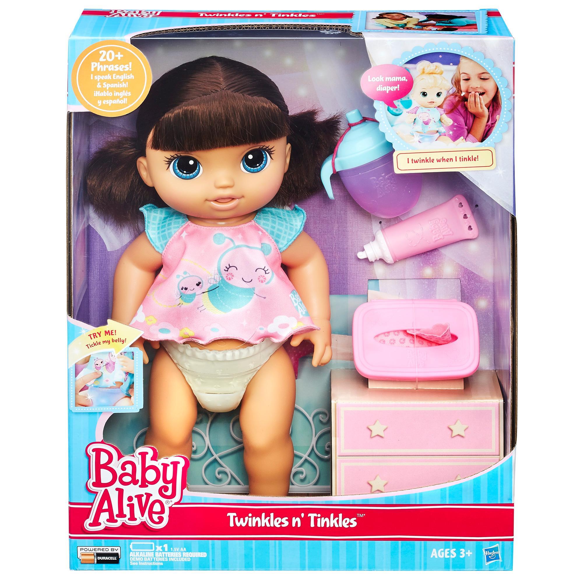 Amazon Com Baby Alive Twinkles N Tinkles Brunette