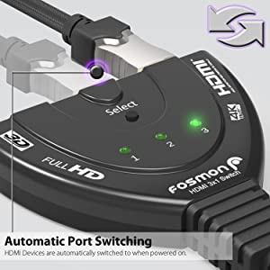3 port 1 x x1 hdmi splitter switcher switch adapter converter cable 5 1080p 24k 4k 3d