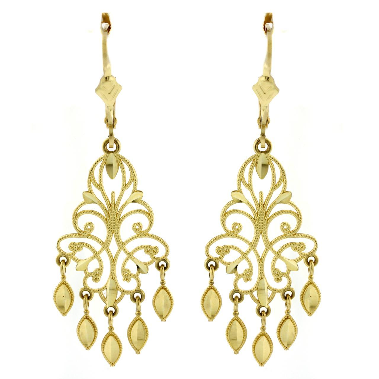 Amazon 14k Yellow Gold Chandelier Earrings 15 Dangle – Chandelier Earring
