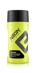 neon sport surge testosterone booster exercise supplement gym workout exercise