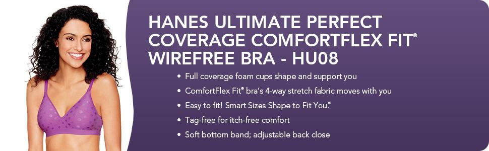 1c4e528120cac Hanes Women s Ultimate Perfect Coverage Foam Wire-Free Bra at Amazon ...