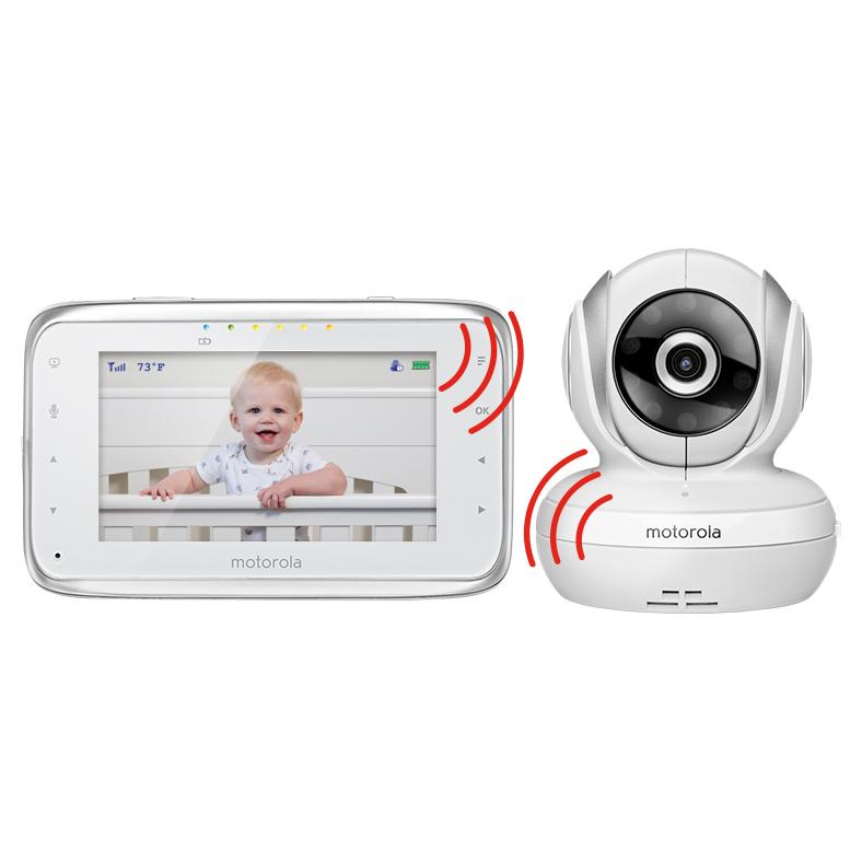motorola mbp38s 2 digital video baby monitor with 4 3 inch color lcd screen and 2. Black Bedroom Furniture Sets. Home Design Ideas