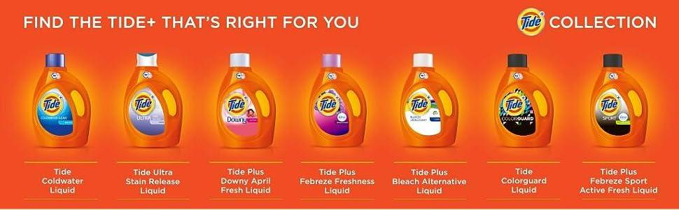 Tide Plus Bleach Alternative Original Scent HE Turbo Clean Liquid Laundry Detergent; plus collection