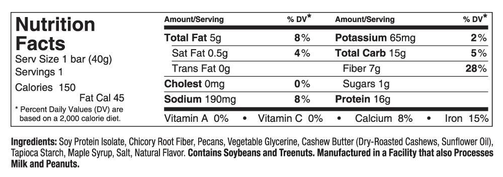 amazon com   simply protein bar  maple pecan  gf and vegan