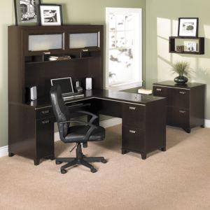 bush furniture tuxedo ldesk in mocha cherry finish - Bush Office Furniture
