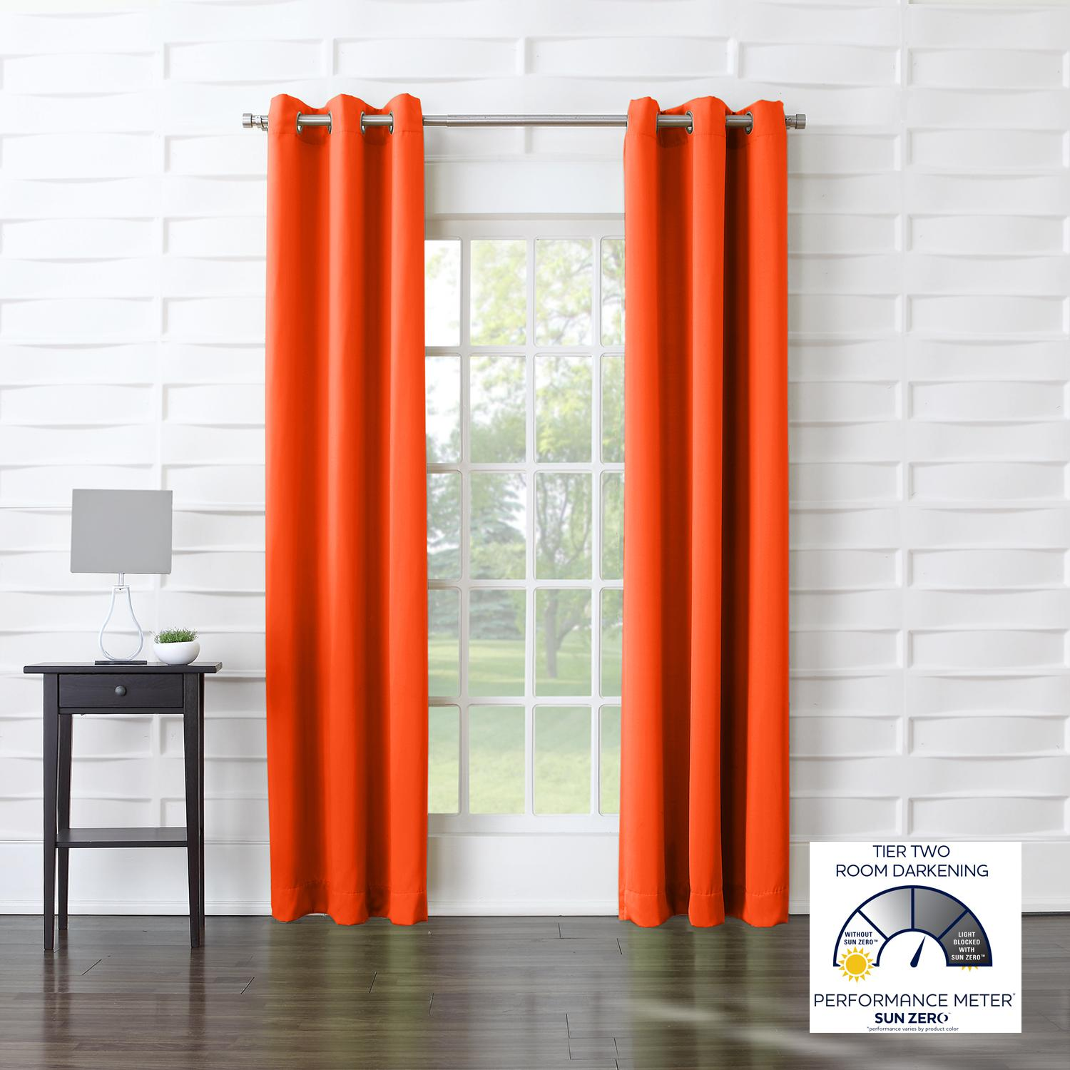 Orange color block curtains - From The Manufacturer