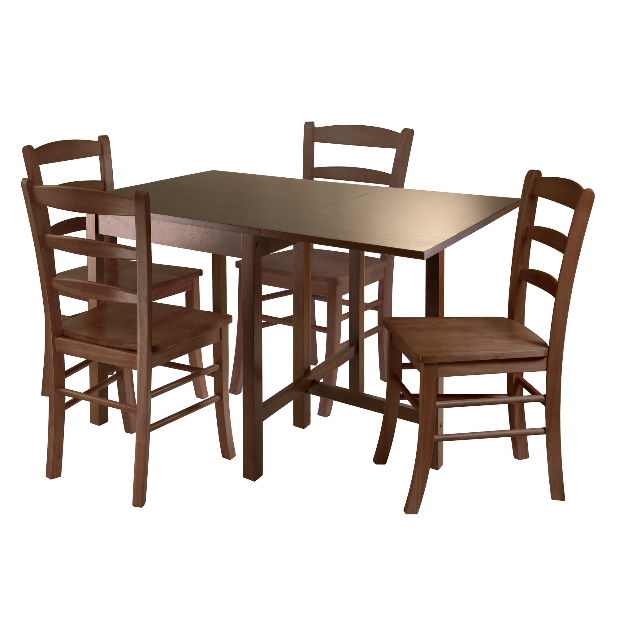Shopko Kitchen Tables Amazon winsome wood lynden 5 piece dining table with 4 ladder view larger workwithnaturefo