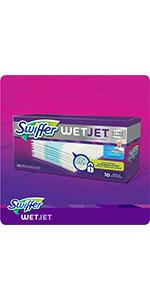 Amazon.com: Swiffer WetJet Spray Mop Cleaner Starter Kit, Includes: 1 Power Mop, 5 Pads, Cleaner ...