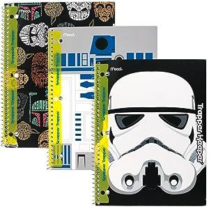 Star Wars, star wars notebook, trapper keeper, snapper trapper, mead star wars