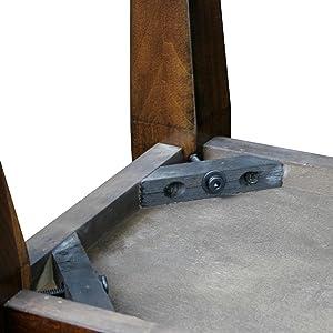 Amazon.com: LEICK Delton estrecho chairside mesa auxiliar ...