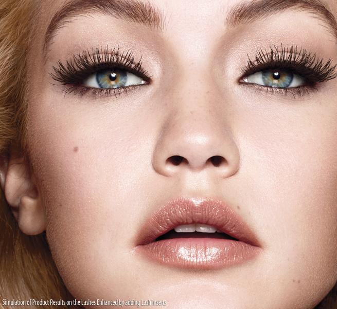 It starts with cup-shaped bristles and ends with over-the-top lashes