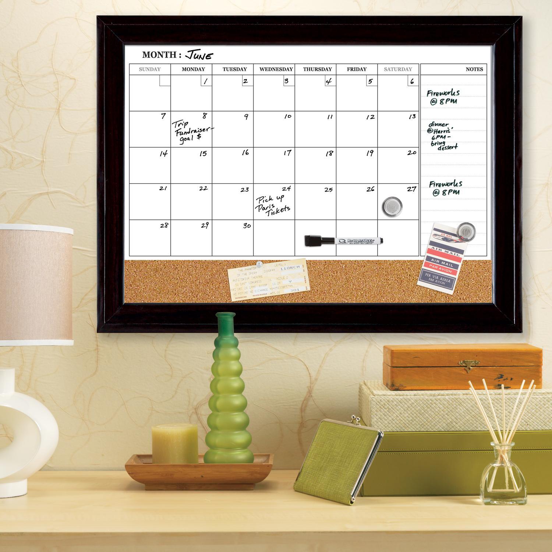 Calendar Bulletin Board Combo : Amazon quartet dry erase calendar board planner
