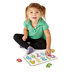 Early Development;Melissa & Doug;Counting;Wooden;toddler;preschool;letters;ABC