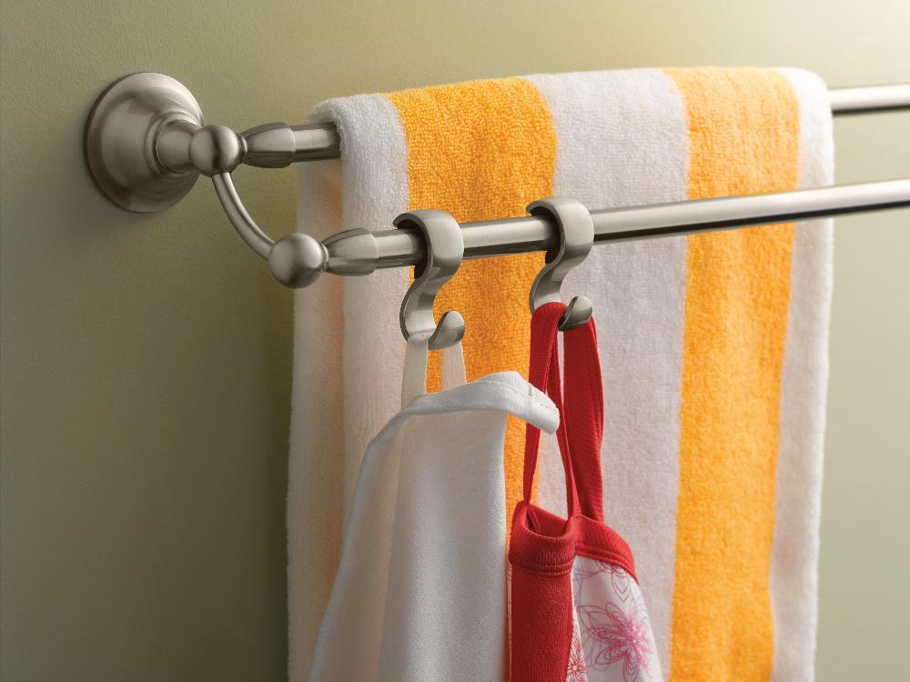 Moen Sage 24 Inch Bathroom Double Towel Bar   Sturdy, Durable Design