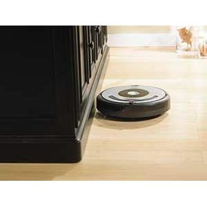 Roomba gets into hard-to-reach places including under and around furniture