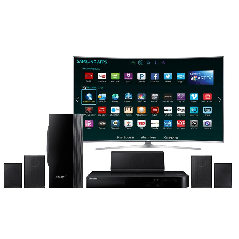 samsung ht j4100 5 1 channel 1000 watt blu ray home theater system 2015 model. Black Bedroom Furniture Sets. Home Design Ideas
