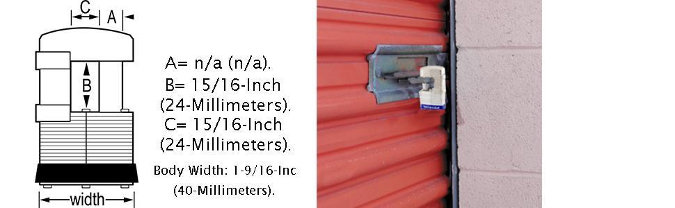 Master Lock 37KA Shrouded Padlock Dimensions Diagram