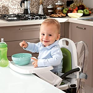 Portable Seat Booster Dining High Chair Adjustable Compact