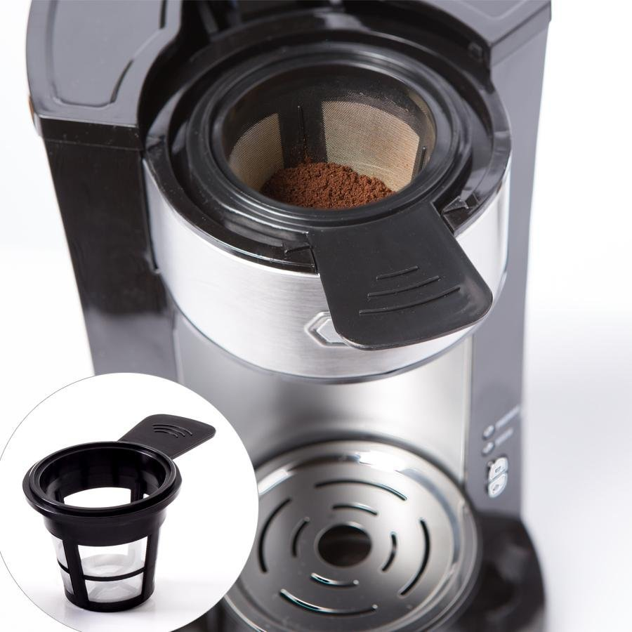 Single Cup Coffee Maker Uses Grounds : BELLA Dual Brew Single Serve Personal Coffee Maker, K Cup, K cup 2.0 and ground 829486143861 eBay