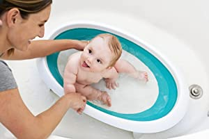 Amazon Com Boon Naked Collapsible Baby Bathtub Blue