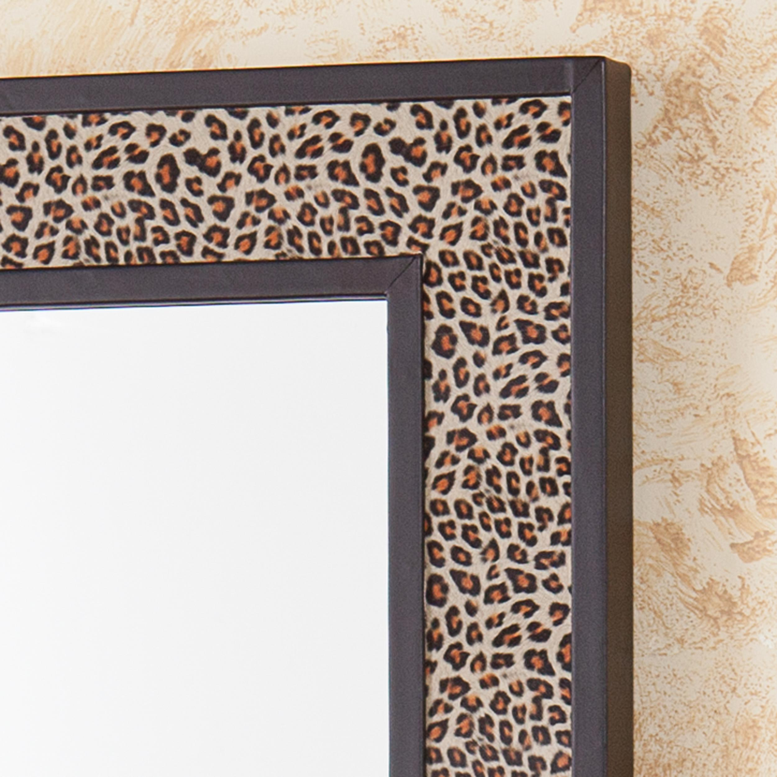 d8586b131d0 Sei berkman leopard animal print decorative wall mirror jpg 2500x2500  Leopard trim mirror