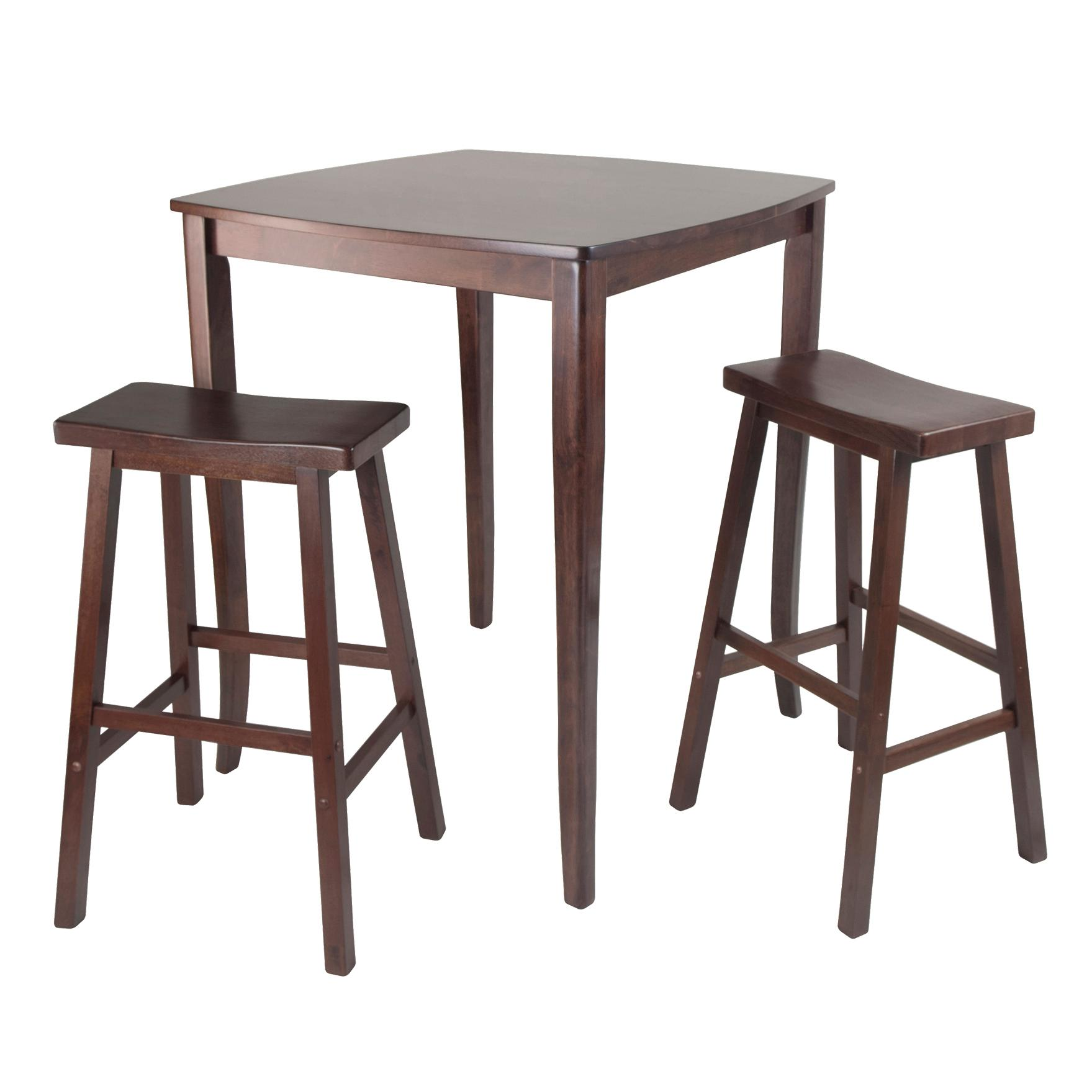Amazon.com: Winsome Inglewood High/Pub Dining Table with Saddle ...