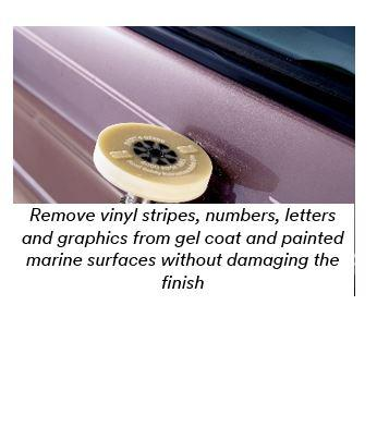 MTM Stripe Off Wheel   Diameter X  Width Beige - Boat decals and stripes   easy removal