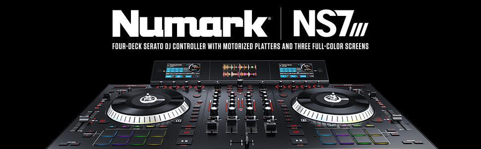 NS7III,Numark,DJ controller,screens,club dj,wedding dj,party dj,4 deck,controller,vinyl,DVS,FX,DJ,