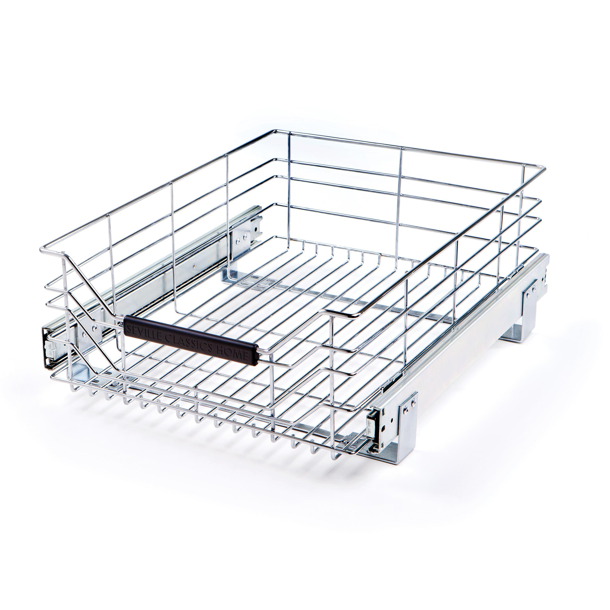 Seville Classics Chrome Wire Sliding Storage Drawer