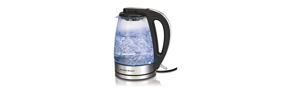 Top Rated Electric Water Kettle ~ Hamilton beach glass electric kettle liter ebay