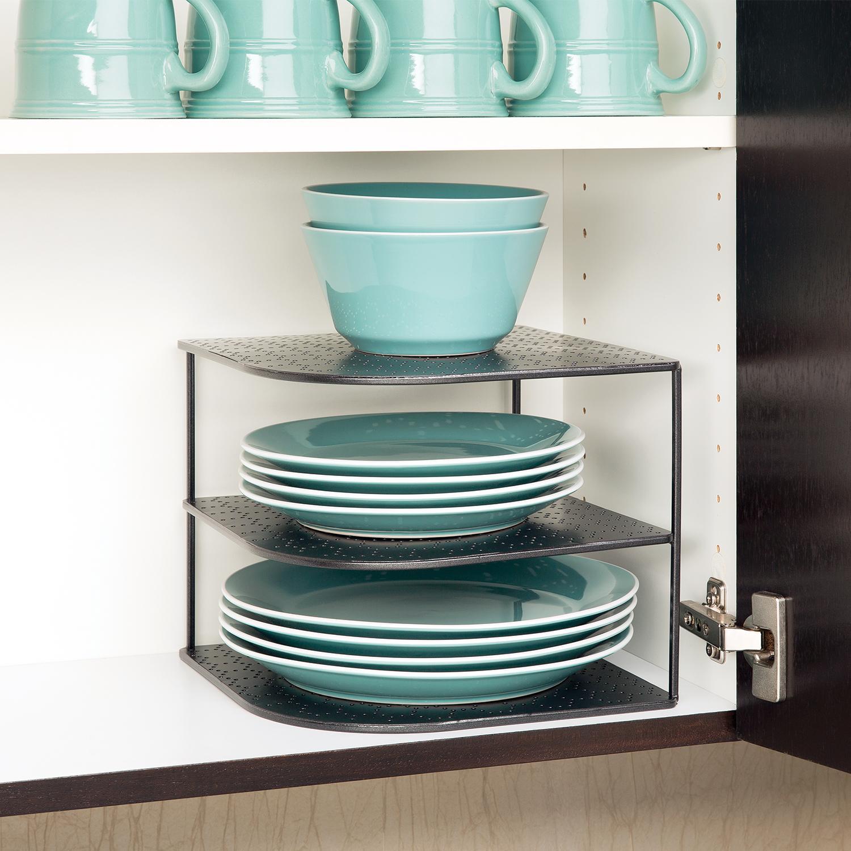 Amazon Com Seville Classics 3 Tier Corner Shelf Counter