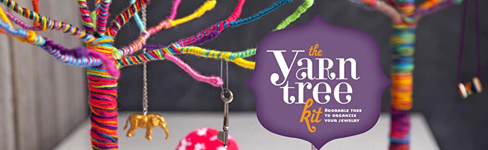 yarn tree, craft, craft-tastic