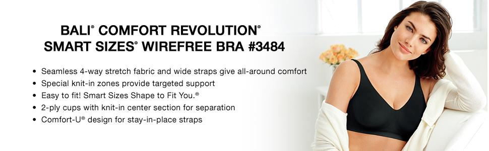 Bali Women's Comfort Revolution Wirefree Bra with Smart Sizes at ...