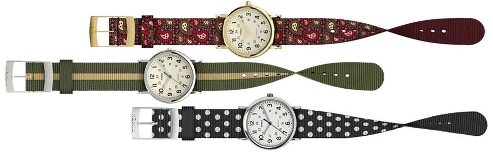 Timex Weekender Reversible Strap Patterns