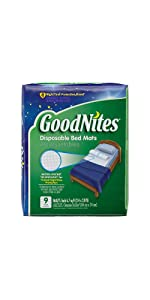 GoodNites Bed Mats offer outstanding bedwetting protection with absorbent disposable bed mats
