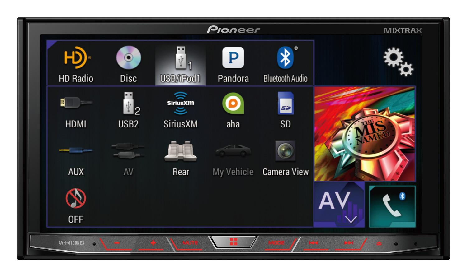Pioneer Avh 4100nex In Dash Multimedia Dvd Receiver With 4000 Wiring View Larger