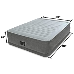 Amazon Com Intex Comfort Plush Elevated Dura Beam Airbed