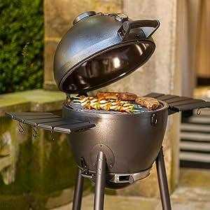 Char-Griller E16620 Akorn Kamado Kooker Charcoal Barbecue Grill and Smoker, Black