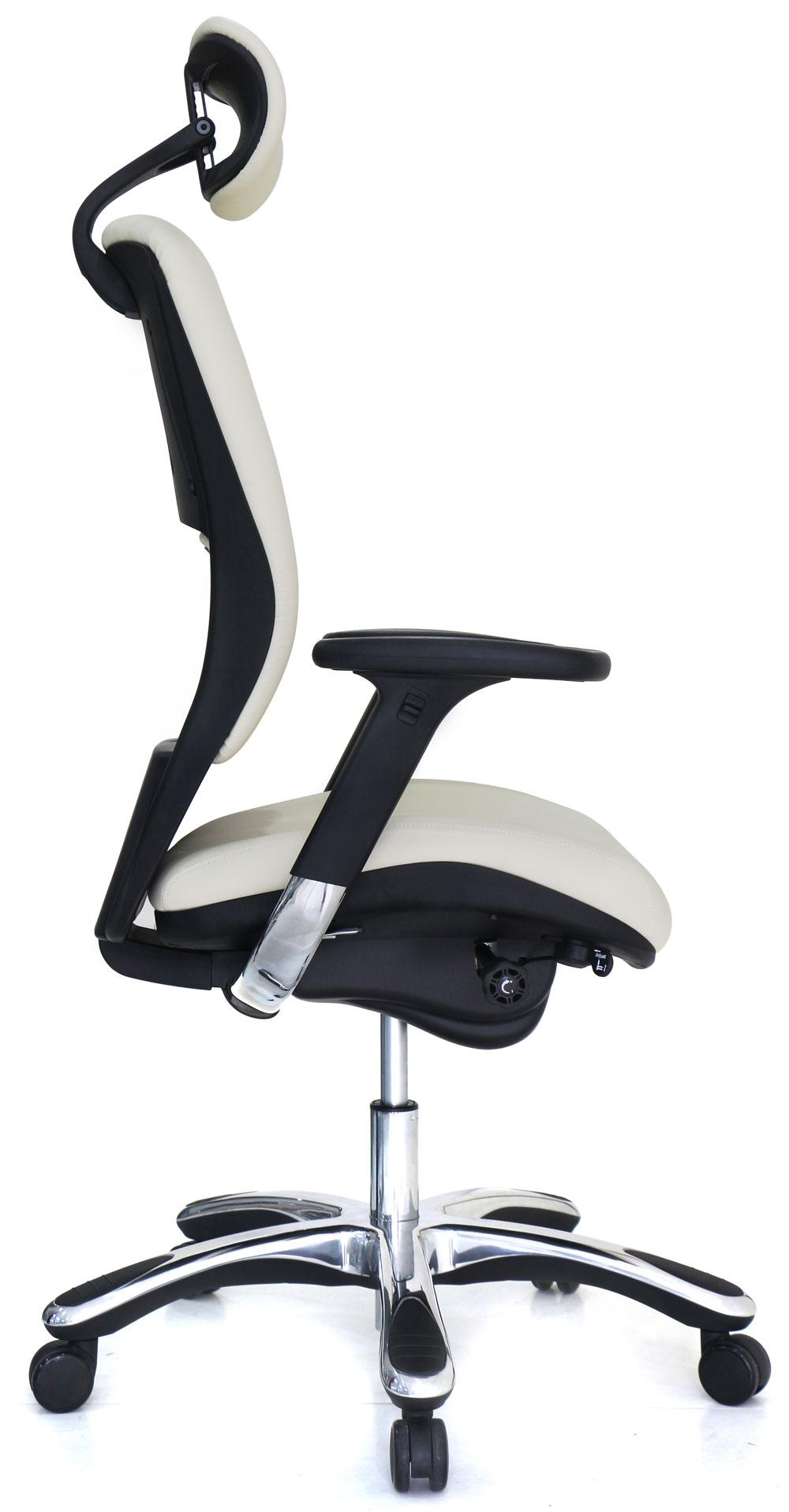 Office chair back view - Ergolux Genuine Leather High Back Executive Office Chair View Larger