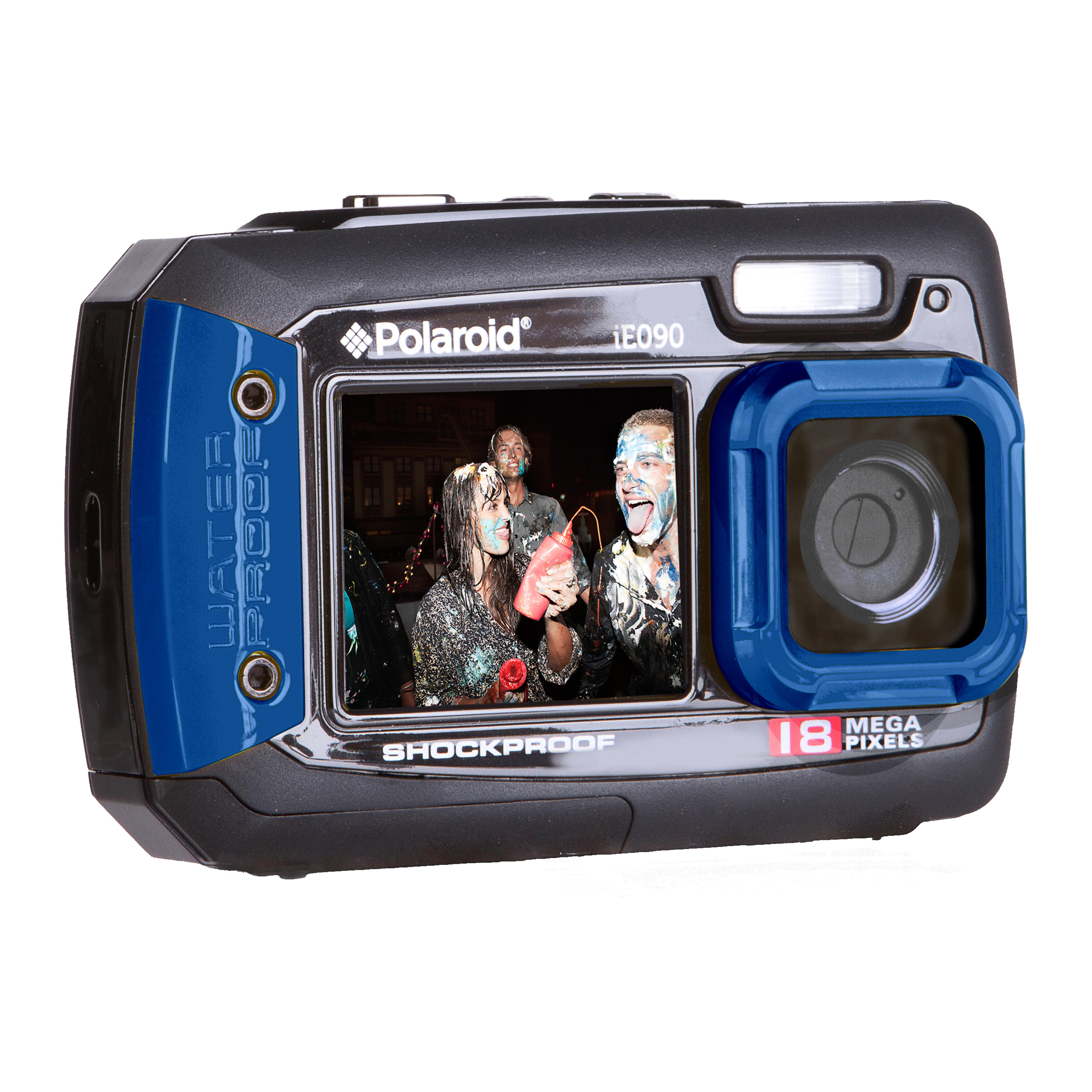 Amazon.com : Polaroid IE090-BLU Waterproof Digital Camera with 2.7 ...