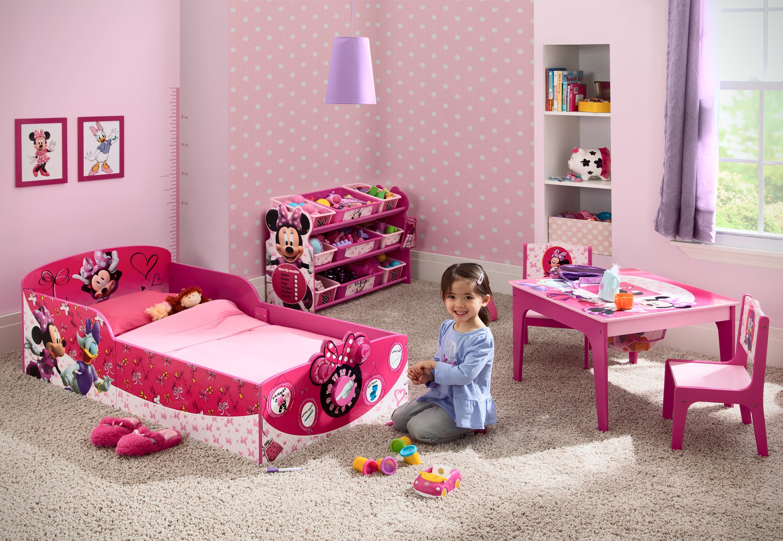 Amazon.com : Delta Children Interactive Wood Toddler Bed, Disney ...