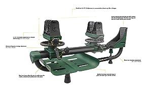 lyman gun vise, guide gear, shooting rest, mtm rest, primos shooting rest, adjustable shooting rest,