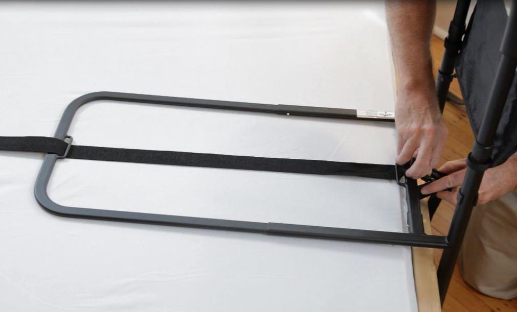 bed assist bar safety side rails help adults seniors elderly getting in out bed ebay. Black Bedroom Furniture Sets. Home Design Ideas