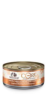 wet cat food, wet canned cat food, 5.5 oz can, cat food topper, cat treat, cat food, Wellness
