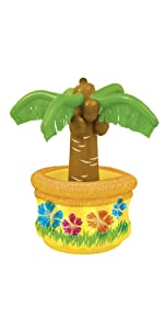 Amazon Com Inflatable Palm Tree Cooler Kitchen Amp Dining