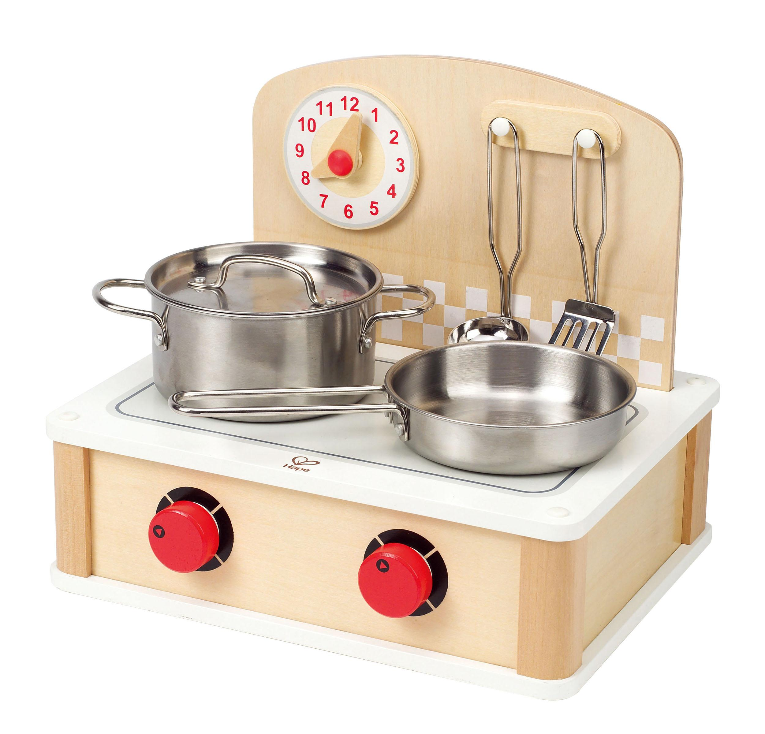 Wooden Kitchen Accessories ~ Amazon hape tabletop cook and grill kid s wooden