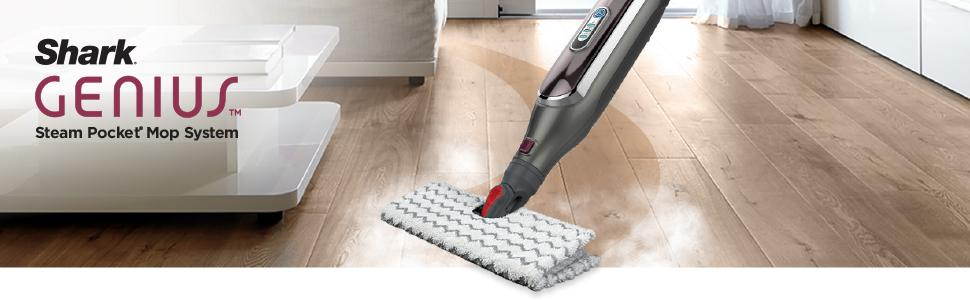 Shark S5003d Gray Genius Hard Wood Floor Cleaning System