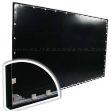 full tension, tensioned projection screen, tension tab projection screen back